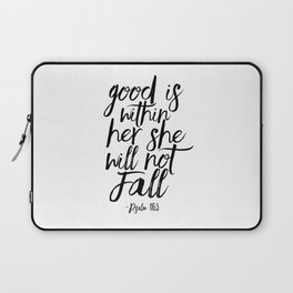 Psalm 46:5 God Is Within Her She Will Not Fall, Nursery Girls,Gift For Her,Bible verse,Scripture Art Laptop Sleeve