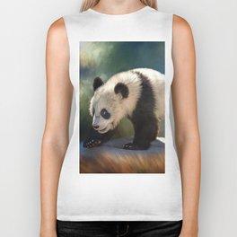 Cute panda bear baby Biker Tank