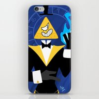 bill cipher iPhone & iPod Skins featuring Cipher by Palolabg