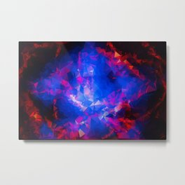 Abstract red and blue triangles Metal Print