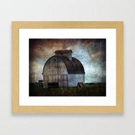 A Rural Iowa Barn Framed Art Print