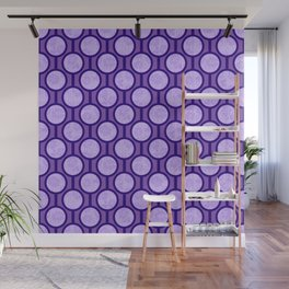 Retro-Delight - Simple Circles (Laced) - Lavender Wall Mural