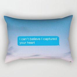 I Can't Believe Captured Your Heart Rectangular Pillow