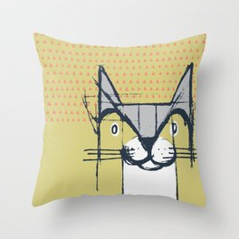 Cubist Cat Study #6 by Friztin Throw Pillow