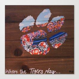 Clemson Tiger Paw Canvas Print