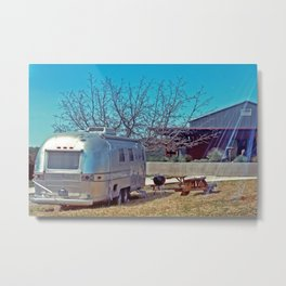winery airstream Metal Print