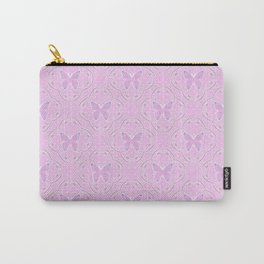 Retro. Pink butterfly. Carry-All Pouch