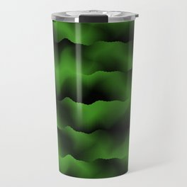 Emerald Green Waves Travel Mug