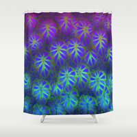 rare Shower Curtains featuring Rare Jungle, Magic Moon by Lindel Caine