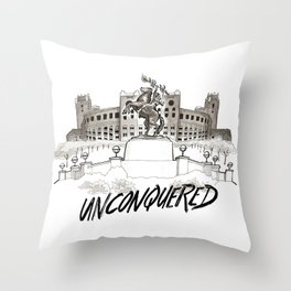 Unconquered - FSU Print Throw Pillow