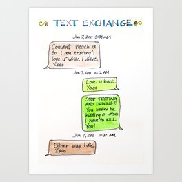 Text Exchange Art Print