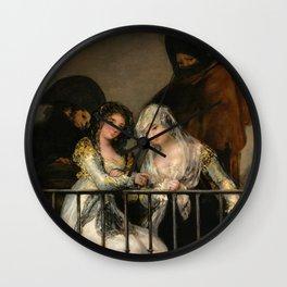 """Francisco Goya """"Majas on a Balcony"""" Wall Clock"""
