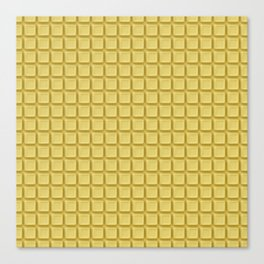 Just white chocolate / 3D render of white chocolate Canvas Print