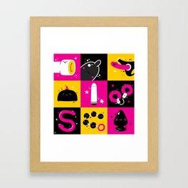 Funny sex toys Framed Art Print