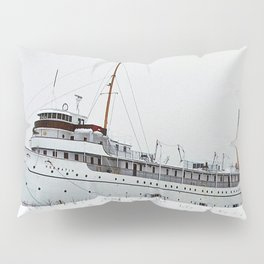 SS Keewatin in Winter White Pillow Sham
