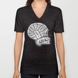 The Mind, Divided Unisex V-Neck