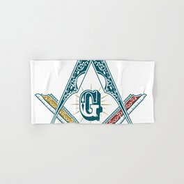Square and Compass - freemasonry Hand & Bath Towel