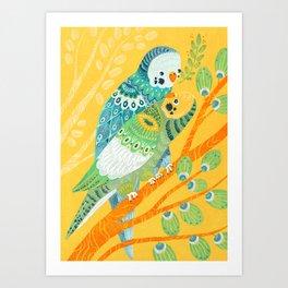 Parakeet Pals Art Print