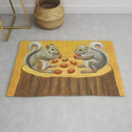 Squirrel's table Rug