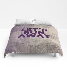 Let's Run Away x Map Comforters