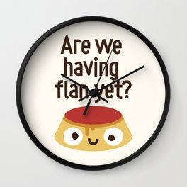 The Proof Is In The Pudding Wall Clock