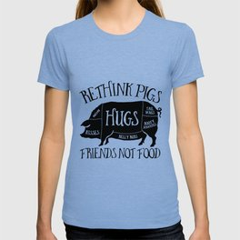 Vegetarian Rethink Pigs Friends Pig T-shirt
