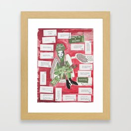 How To Be A Soldier Framed Art Print