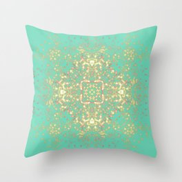 Golden Shield Throw Pillow