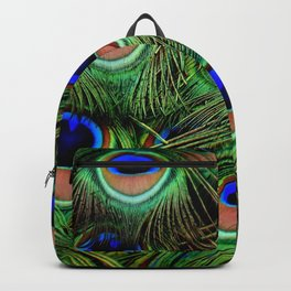 Peacock feathers | Plumes de Paon Backpack