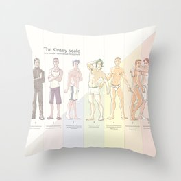 Kinsey Scale Throw Pillow