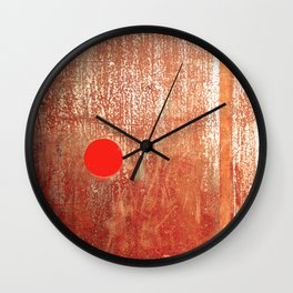 Metallic Face (Red Version) Wall Clock