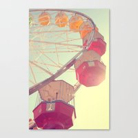 ferris wheel Canvas Prints featuring ferris wheel by shannonblue