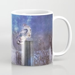 The Northern Harrier and The Moon Coffee Mug