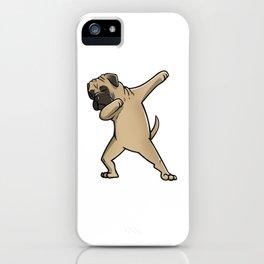 Funny Dabbing Bullmastiff Dog Dab Dance iPhone Case
