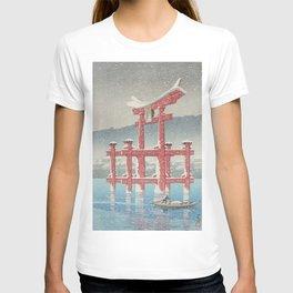 Beautiful Japanese Winter Landscape T-shirt