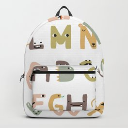ABC The Monster Alphabet - neutral tones Backpack