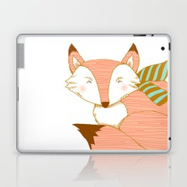 Fashionable Fox - Peach Laptop & iPad Skin