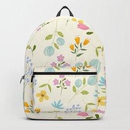 Tiny Flowers - Vanilla background Backpack