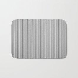 Aluminium Metallic Gray Stripe Surface Artistic Abstract Bath Mat