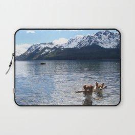 Corgi & Mini Aussie at Lake Tahoe Laptop Sleeve