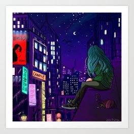 city digital art Art Print