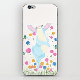 Bouncing Baby Blue Bunny iPhone Skin