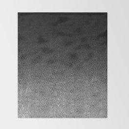Silver & Black Glitter Gradient Throw Blanket
