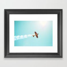 Aerobatic Biplane Framed Art Print