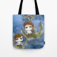 larry stylinson Tote Bags featuring Larry Stylinson - Anchor and rope by Yorlenisama
