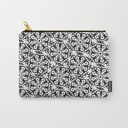 Messy black & white ornamental pattern Carry-All Pouch