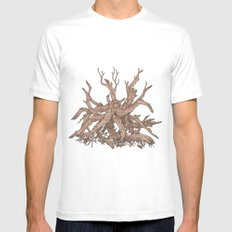 Driftwood White MEDIUM Mens Fitted Tee