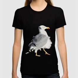 Seagull in a windy day with ruffled feathers T-shirt