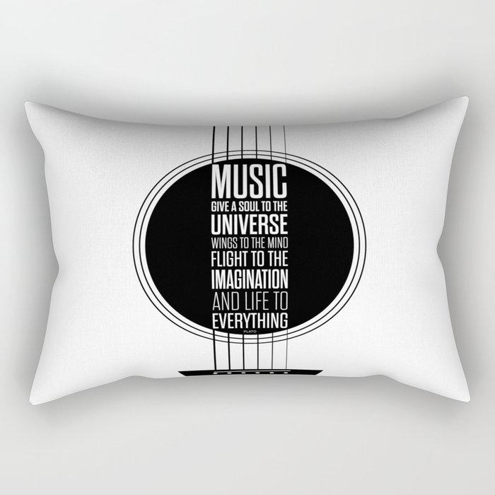 Lab No. 4 - Plato philosopher Inspirational Music Quotes  poster Rectangular Pillow