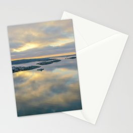 Sea lika a mirror in winter drone photo Stationery Cards